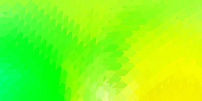 modelo de triângulo poli de vetor verde e amarelo claro.