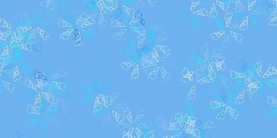 fundo abstrato azul claro do vetor com folhas.