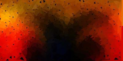 cenário poligonal de vetor laranja escuro.