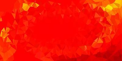 fundo de mosaico de triângulo vetorial laranja claro