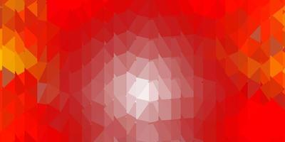 papel de parede poligonal geométrico de vetor laranja claro.