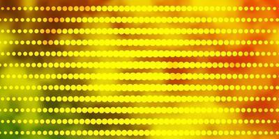 layout de vetor verde e amarelo claro com círculos.