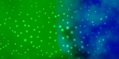 padrão de vetor multicolor escuro com estrelas abstratas.