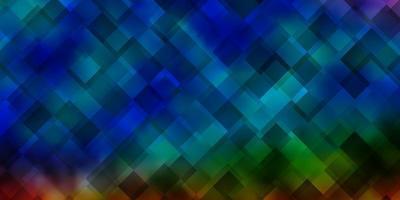 textura de vetor multicolorido escuro em estilo retangular.