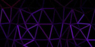 pano de fundo de mosaico de triângulo de vetor roxo e rosa escuro.