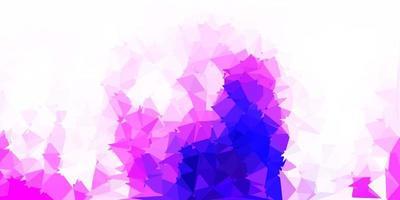 luz padrão poligonal de vetor roxo e rosa.