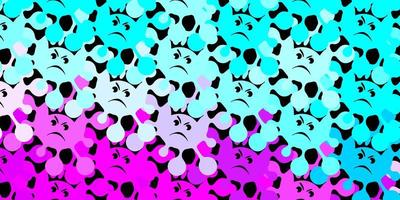 fundo vector rosa escuro, azul com símbolos covid-19.