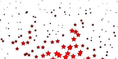 padrão de vetor laranja escuro com estrelas abstratas.