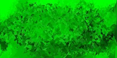 modelo de triângulo abstrato de vetor verde e amarelo claro.