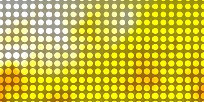 padrão de vetor laranja claro com círculos