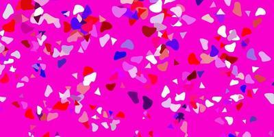 fundo vector rosa claro, vermelho com formas aleatórias.
