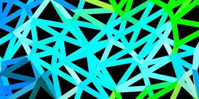 desenho de polígono gradiente de vetor azul claro e verde.