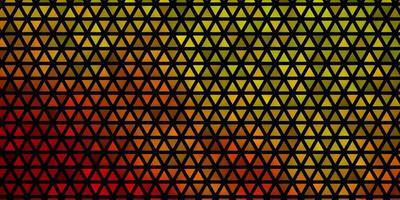 modelo de vetor verde, vermelho claro com cristais, triângulos.