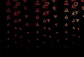 textura vector vermelho escuro com símbolos de religião.