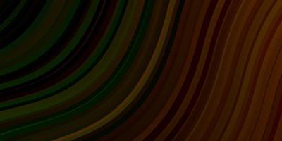 pano de fundo vector verde e amarelo escuro com arco circular.