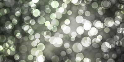 padrão de vetor cinza claro com esferas.
