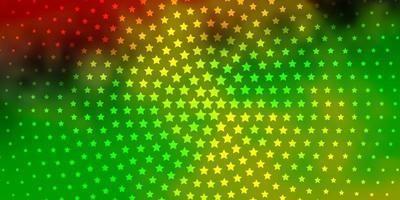 textura leve vetor multicolor com belas estrelas.