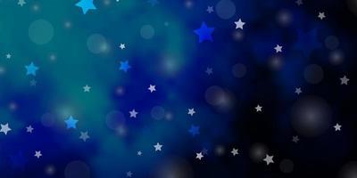 fundo vector azul escuro com círculos, estrelas.