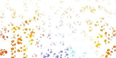 textura vector azul claro, amarelo com formas de memphis.