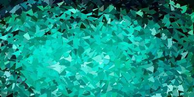 pano de fundo poligonal de vetor azul e verde claro.
