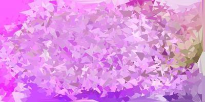papel de parede de polígono gradiente de vetor rosa claro e verde.
