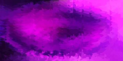luz roxa, rosa padrão de triângulo abstrato de vetor.
