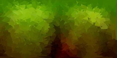 textura de triângulo abstrato de vetor verde escuro e amarelo.