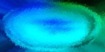 papel de parede polígono gradiente de vetor azul claro e verde.