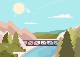 ilustração do parque estadual canyon eldorado vetor
