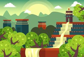 el dorado legend city gold flat vector ilustração