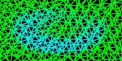 projeto do mosaico do triângulo do vetor verde claro.