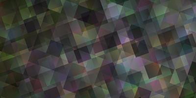textura vector cinza claro com estilo triangular.
