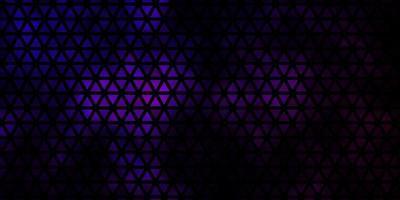 textura vector roxo escuro com estilo triangular.