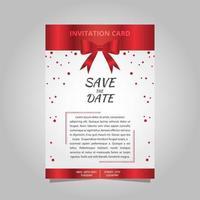 cartão de convite vermelho e branco moderno. cartão vermelho do convite. vetor