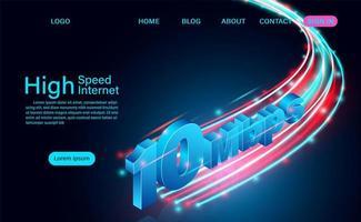 página inicial de tecnologia de internet de alta velocidade