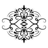 divisor decoração clássico ícone vintage vetor