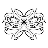divisor ícone de elemento vintage ornamentado vetor