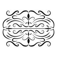 ícone de floreios vitorianos da decoração do divisor vetor