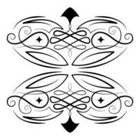 divisor decoração vinheta ornamento ícone vetor