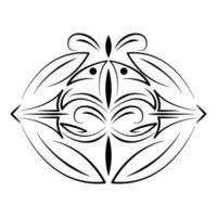 divisor decorativo redemoinho ícone vintage vetor