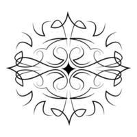 divisor decoração floral abstrato vintage ícone vetor
