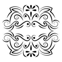 divisor decoração ícone antigo da natureza vetor