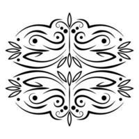 divisor ornamental filigrana decoração vintage ícone vetor