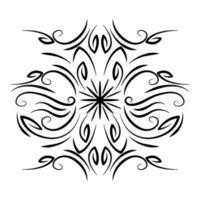 divisor decoração redemoinho ornamento floral ícone vetor