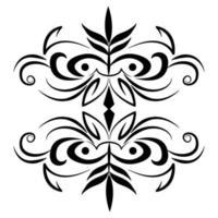 divisor ícone vintage elegante redemoinho vetor