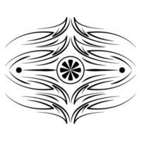divisor ícone vintage decoração de flores vetor