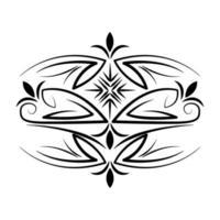 divisor decoração floral natural ícone vintage vetor