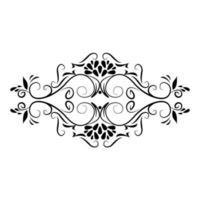 divisor ícone floral rústico decoração vetor