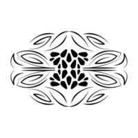 divisor ícone decorativo de rolagem floral vetor