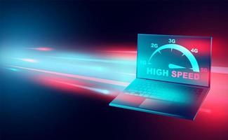banner de tecnologia de internet de alta velocidade vetor
